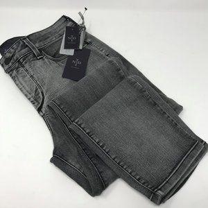 NYDJ size 10 Alina denim legging NWT gray faded